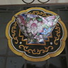 Asian Bowl Scallop Rim Hand Painted Unique Style With Markings