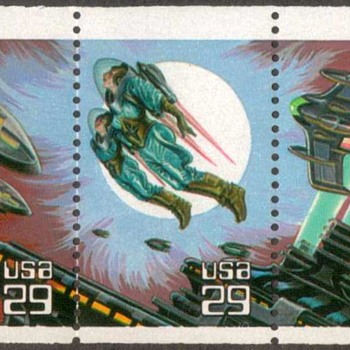 1993 - Space Fantasy Postage Stamps (US) - Stamps