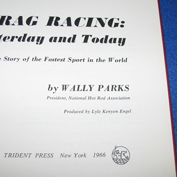 Vintage Drag Racing Book - Books