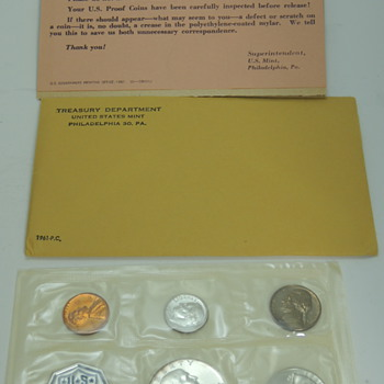 1961 Proof Set with Packaging - US Coins
