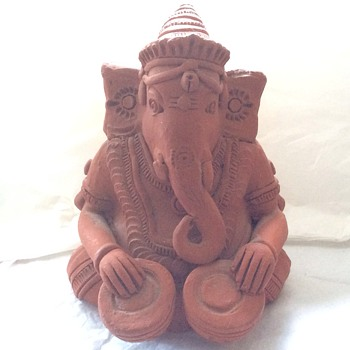Vintage Heavy clay elephant
