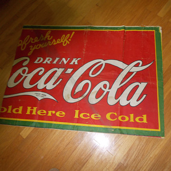 Another Schmidt Museum Store Purchase...a 1930s cloth banner