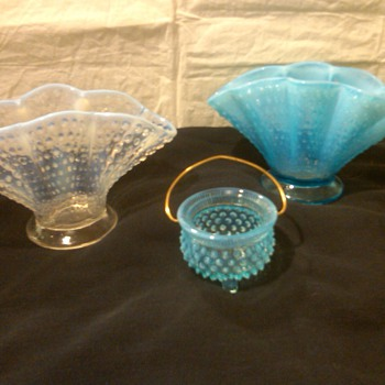 SOME OF MY FAVORITE PIECES OF FENTON HOBNAIL - Glassware