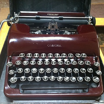 Sterling Corona Typewriter - Office