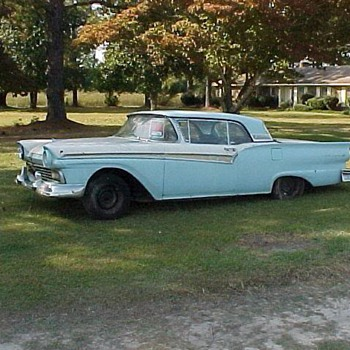 two 1957 FORD HARDTOP CONVERTIBLE