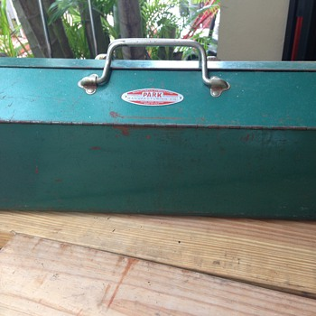 Antique Park Manufacturing Metal Tool Box