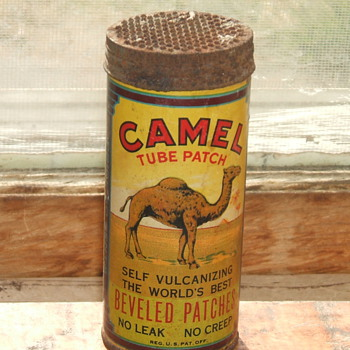 Camel Tire Patch Kit (round can) - Petroliana