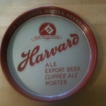 Harvard Beer Tray 1940&#039;s Lowel - Advertising