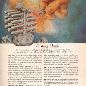 1953 - Union Carbide Advertisements