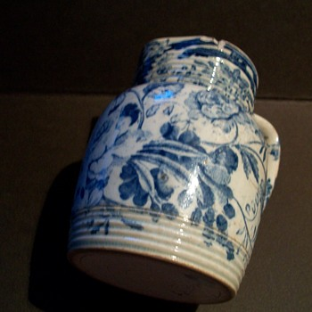 Rockingham Blue & White Cream Jug - China and Dinnerware