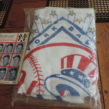 1964 NY Yankees towel and scorecard - Baseball