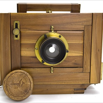 Dry Plate Camera made with unusual Manzanita Wood - Cameras