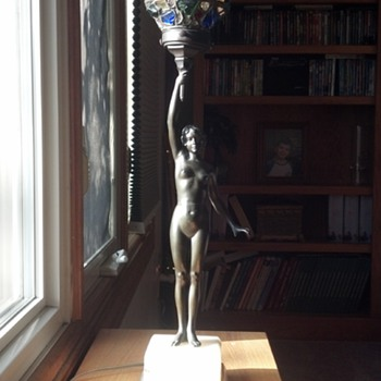 Naked Lady Lamp  - Art Deco