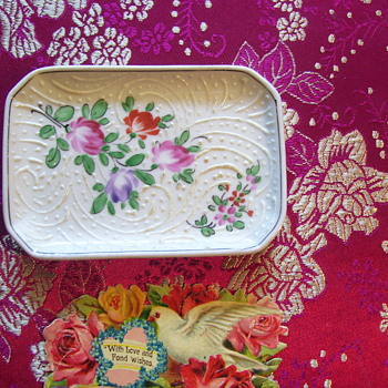 "HANDPAINTED c.1900 ""CALLING CARD TRAY""FOR YOUR VISITERS, DAINTY!"
