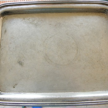 Fraget MB PLAQUE Century: XIX, tray. - Sterling Silver