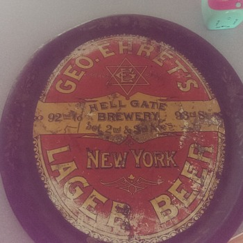 Antique beer tray - Breweriana