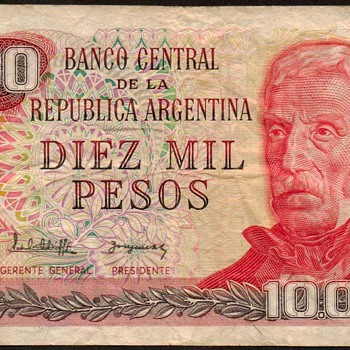 Argentina - (10,000) Pesos Bank Note