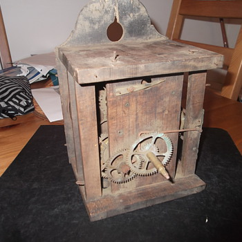 Very Old Wood Clock 3 Layered Movement - Clocks