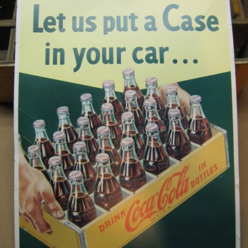 1950&#039;s Cardboard Coca-Cola Sign
