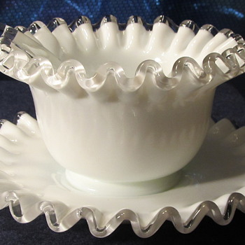 Fenton Silver Crest Mayonnaise set - Labeled