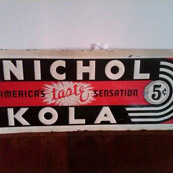 Nichol Kola embossed sign - Advertising