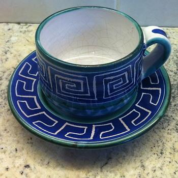 Tea cup pottery.