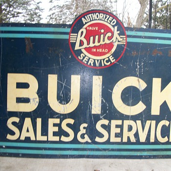 Buick vintage dealership sign