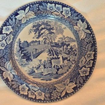 Antique blue transferware plates - China and Dinnerware