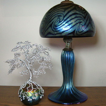 Lundberg Studios Van Gogh Sunset lamp and paperweight - Art Glass