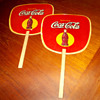 A pair of 1930s Coca-Cola fans