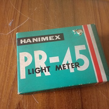 Hanimex PR-45 Lightmeter in original packing with its shaped zipped leather case. - Cameras