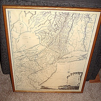 NY,NJ and part of PA Map - Paper