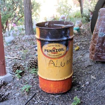 The Long Awaited 16 Gallon Pennzoil Drum - Petroliana
