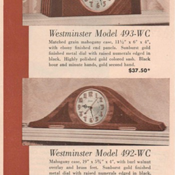 1950 Sessions Clock Advertisement - Advertising