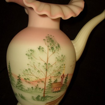 Fantastic find this Weekend- Fenton Hand-Painted Burmese Pitcher S. Smith
