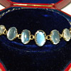 Antique Victorian Ceylon Moonstone 9ct 9k Bracelet