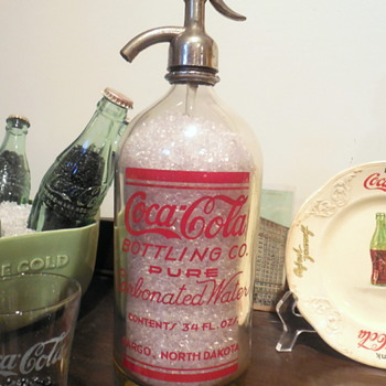 c. 1930 Coca-Cola Seltzer Bottle