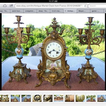 Antique clock marked France - Clocks