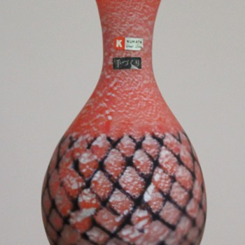 Interesting Kurata vase - Art Glass