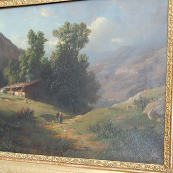 European-Mountain Painting 1800  - Visual Art