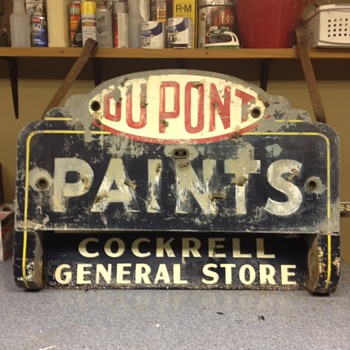 Vintage DU PONT Paint Sign W/Cockrell's General Store sign