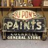 Vintage DU PONT Paint Sign W/Cockrell's General Store sign
