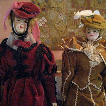 1850's French Fashion Sample Dolls - Dolls