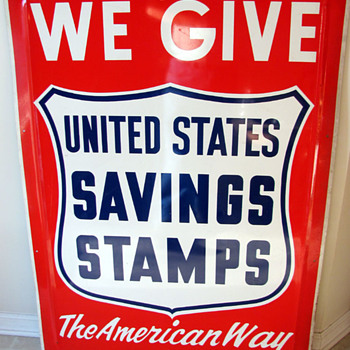 United States Savings Stamps Sign - Signs