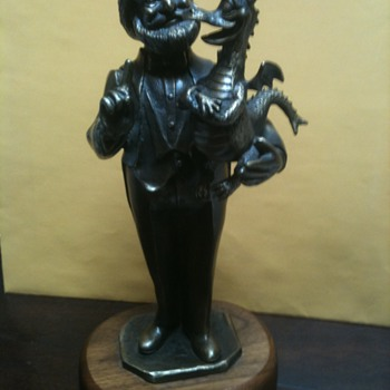 "Disney's ""Dreamfinder and Figment"" bronze"