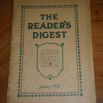 Readers Digest, January 1920 Vol 1, No. 1