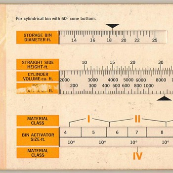 1971 - Vibra Screw Bin Calculator Data Chart - Office