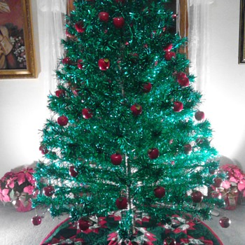 Antique Alumium Christmas Tree - Christmas