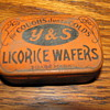 Vintage Y & S Licorice Wafers Tin