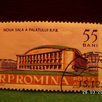 1961 Romina (Romania) 55 Bani Stamp ~ Used - Stamps